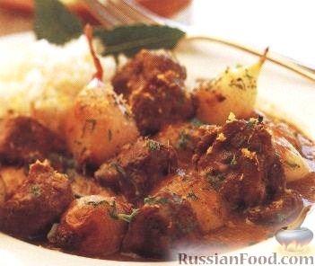 Рецепт Рагу из баранины, картофеля и шалота