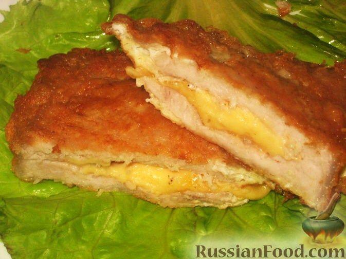 Свиная отбивная с сыром в духовке рецепты