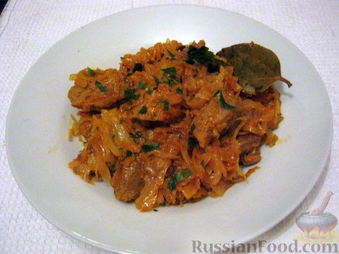 Рецепт Тушеная капуста с мясом