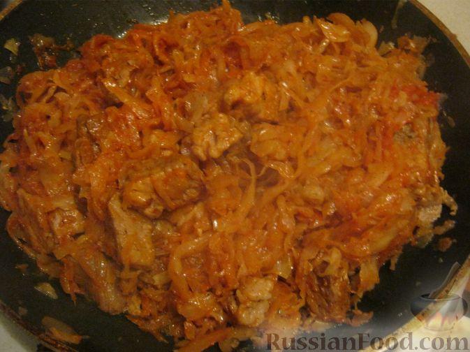 капуста тушеная с свининой рецепт с фото