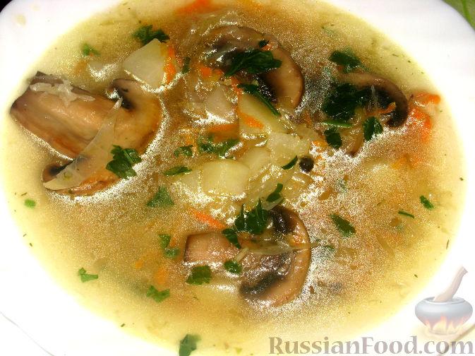 Рецепт Щи с грибами и квашеной капустой
