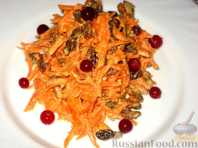 Рецепт Салат из моркови с изюмом