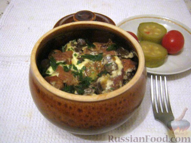 горшочки в духовке с мясом и картошкой с сыром