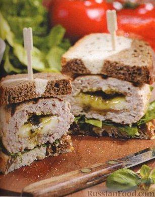 Рецепт Бутерброды с индюшиными котлетами