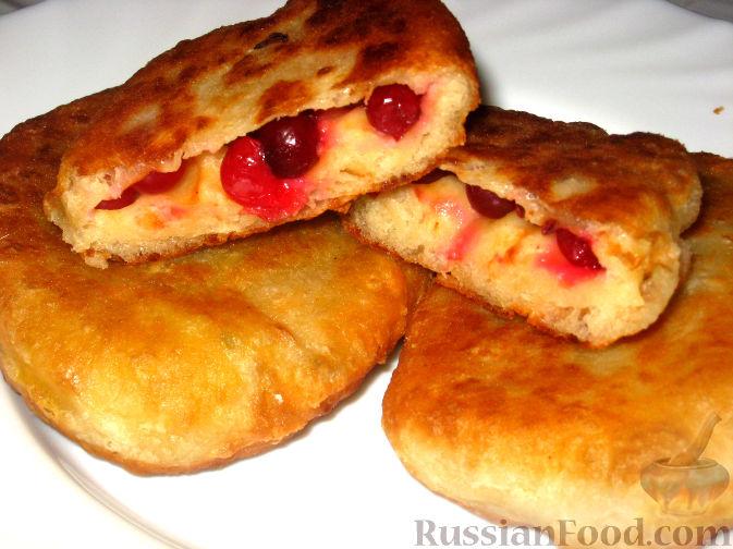 Рецепт Пирожки жареные с клюквой