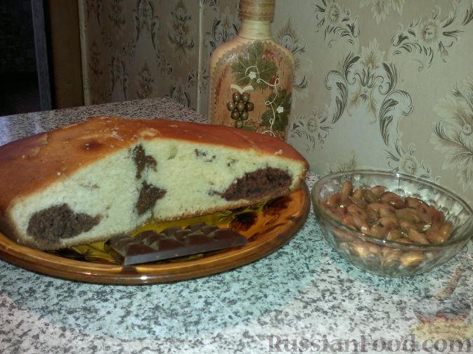 Рецепт Манник на кефире (с какао)