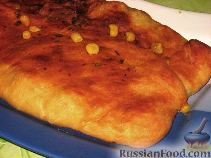 Рецепт Закрытый пирог с мясом и кукурузой