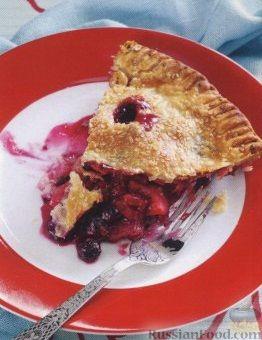Рецепт Песочный пирог с ягодами, яблоками и ревнем