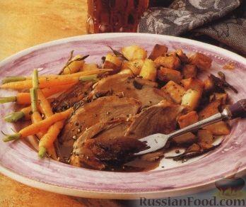 Рецепт Голень ягненка, запеченная в духовке