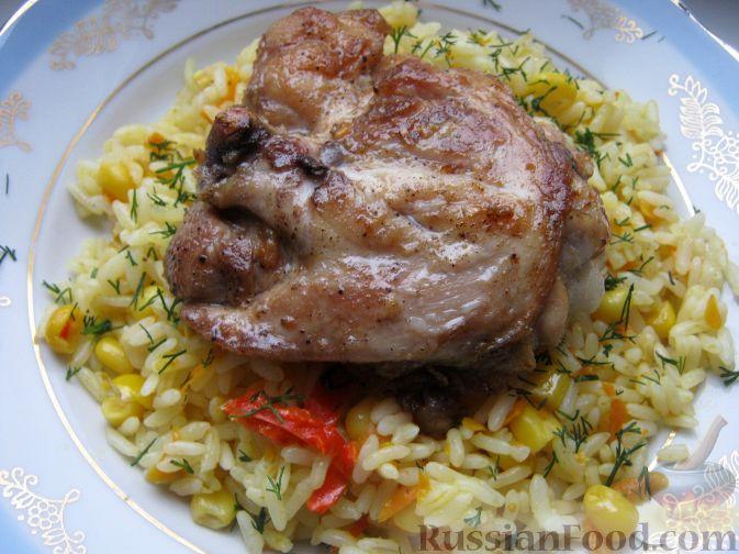 Рецепт Жареная курица на сковороде