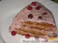 Фото к рецепту: Клюквенный торт