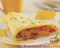 Фото к рецепту: Омлет с креветками