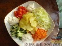 Фото к рецепту: Салат овощной