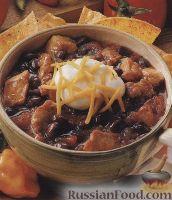 Фото к рецепту: Острый суп из фасоли и свинины