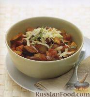 Фото к рецепту: Вегетарианское овощное рагу