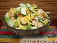 Фото к рецепту: Салат «Курица с сухариками»