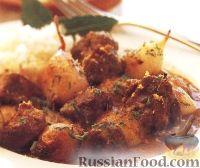 Фото к рецепту: Рагу из баранины, картофеля и шалота