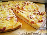 Фото к рецепту: Пицца на сковороде