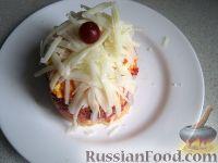 Фото к рецепту: Слоеный овощной салат