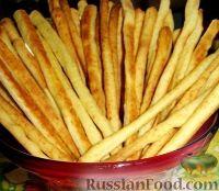 Фото к рецепту: Сырная соломка