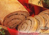 Фото к рецепту: Хлеб с травами в виде рулетов