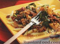 Фото к рецепту: Макароны с мясом и шпинатом