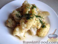 Фото к рецепту: Тушеная цветная капуста