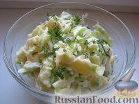 Фото к рецепту: Салат из молодой капусты с апельсинами