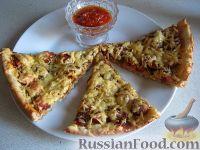 Фото к рецепту: Пицца быстрого приготовления