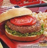 Фото к рецепту: Гамбургер с необычной котлетой