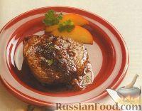 Фото к рецепту: Говяжьи стейки с персиковой глазурью