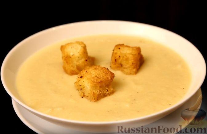 Фото приготовления рецепта: Крем-суп из цветной капусты с сыром - шаг №8