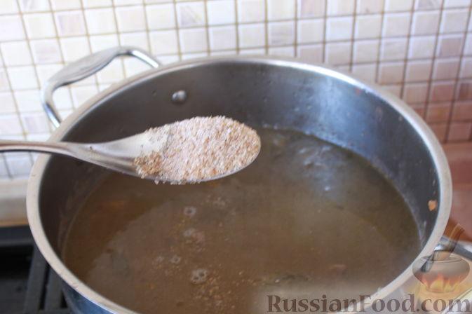 Фото приготовления рецепта: Творожная шоколадно-ванильная запеканка - шаг №7