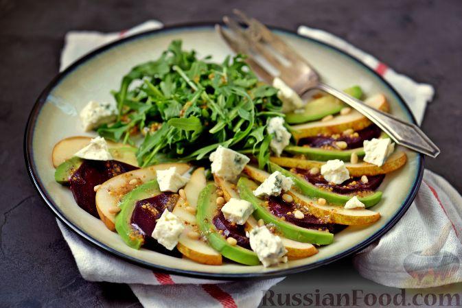 Фото приготовления рецепта: Салат из свеклы, груши и авокадо - шаг №9
