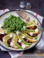 Салат со свининой, фунчозой и яичными блинчиками новые фото