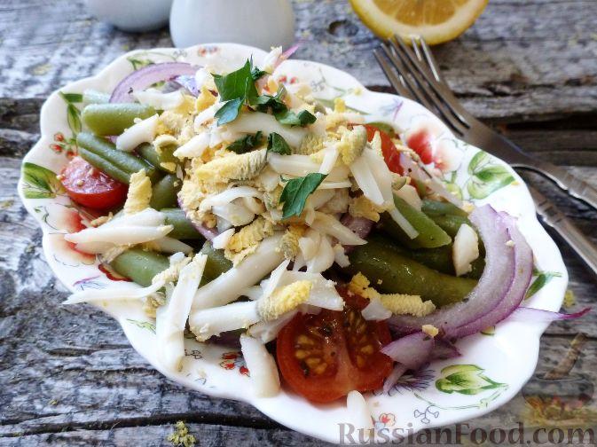 Фото к рецепту: Салат из стручковой фасоли