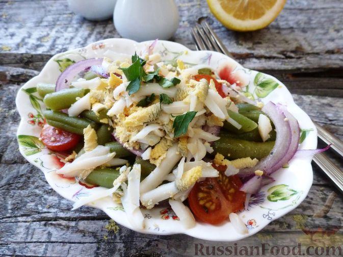 Фото приготовления рецепта: Салат из стручковой фасоли - шаг №10