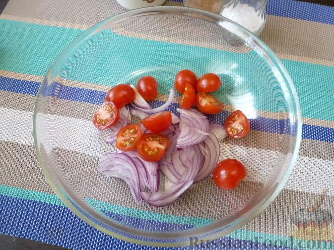 Фото приготовления рецепта: Салат из стручковой фасоли - шаг №5