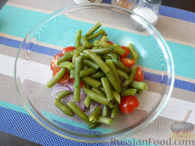 Фото приготовления рецепта: Салат из стручковой фасоли - шаг №6