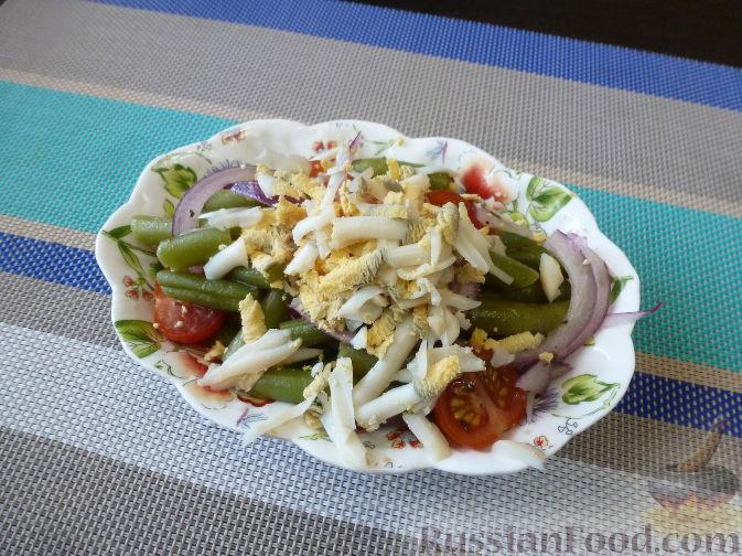 Фото приготовления рецепта: Салат из стручковой фасоли - шаг №9
