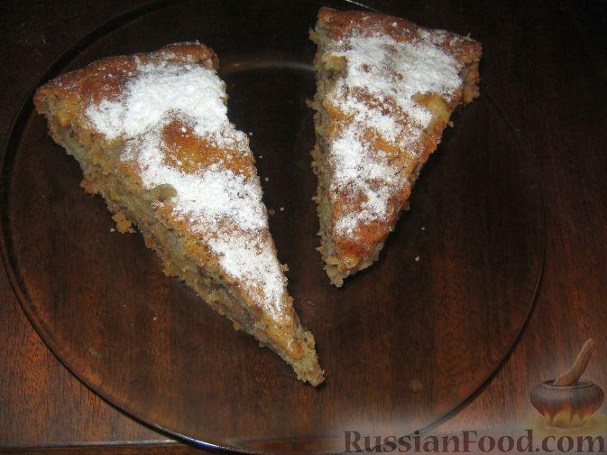 Рецепт Постный пирог с яблоками и джемом