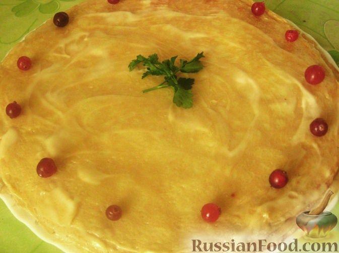 Рецепт Блинный пирог с курицей