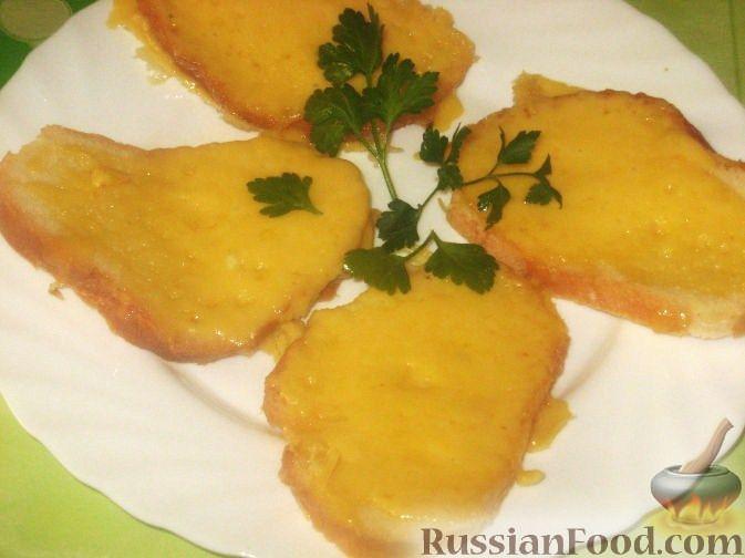 Рецепт Гренки с сыром за 5 минут