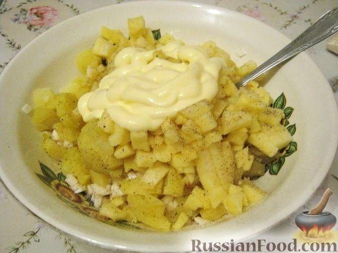 Салат из яблок рецепт