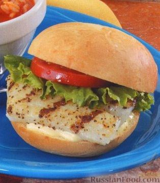 Рецепт Гамбургер с рыбой и зеленью