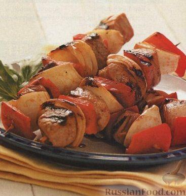 Рецепт Шашлык из свинины, болгарского перца и лука