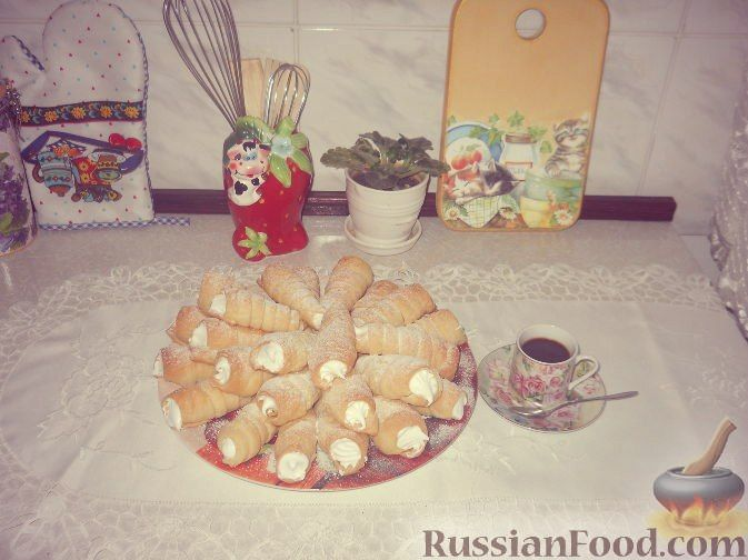Рецепт Слоеные трубочки