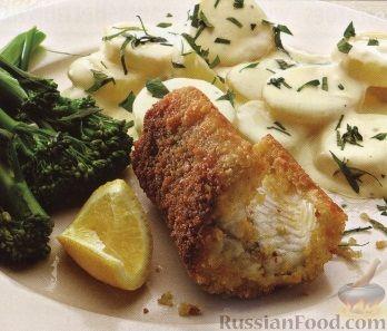 Рецепт Угорь жареный с вареным картофелем