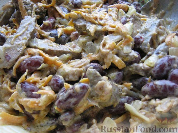 салат с фасолью.рецепт с фото