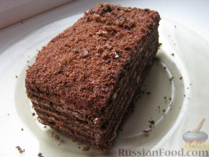Рецепт Торт медово-шоколадный с орехами